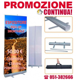 ROLL-UP a 50€ stampa compresa